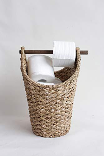 Creative Co-op Bankuan Braided Oval Toilet Paper Basket