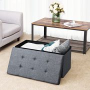 SONGMICS Storage Ottoman Bench, Chest with Lid, Foldable Seat