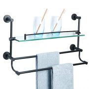 Alise Bathroom Shelf SUS Stainless Steel Shower Glass Shelf