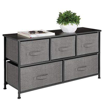 mDesign Extra Wide Dresser Storage Tower - Sturdy Steel Frame