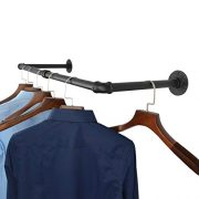 AddGrace Industrial Iron Pipe Clothing Garment Rack Wall
