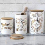 Harry Potter Marauder's Map Porcelain 3 Piece Canister Set