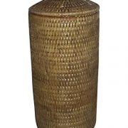 Artifacts Trading Company Rattan Large Tall Toilet Roll Knot Box