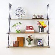 AVIGNON HOME Rustic Floating Wood Shelves 3-Tier Wall Mount Hanging Shelves