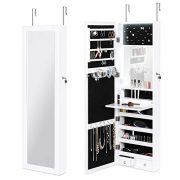 Best Choice Products Full Length Hanging Mirror Jewelry Armoire Cabinet
