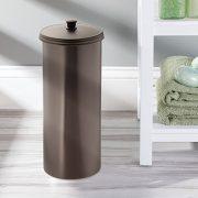 iDesign Kent Plastic Toilet Paper Tissue Roll Reserve Canister