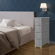 Sorbus Narrow Dresser Tower with 4 Drawers - Vertical Storage for Bedroom