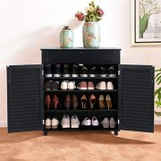 Yaheetech Shoe Storage Cabinet with Drawer and Adjustable Shelf