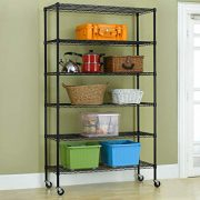 BestOffice 6 Tier Wire Shelving Unit Heavy Duty Height Adjustable
