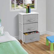 Sorbus Nightstand with 3 Drawers - Bedside Furniture & Accent End Table Storage