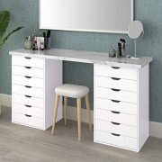 DEVAISE 7-Drawer Mobile Cabinet for Office & Closet in White