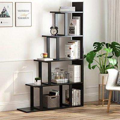 Tribesigns 5-Shelf Ladder Corner Bookshelf, Modern Simplism Style