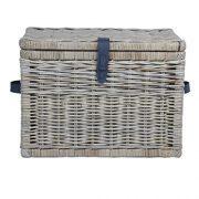 The Basket Lady Deep Wicker Storage Trunk, Large