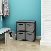 Homebi 4-Drawer Storage Chest Shelf Unit Storage Cabinet