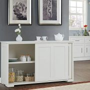 Costzon Kitchen Storage Sideboard, Antique Stackable Cabinet