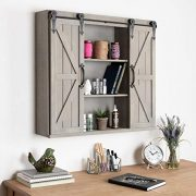 Kate and Laurel Cates Wood Wall Storage Cabinet
