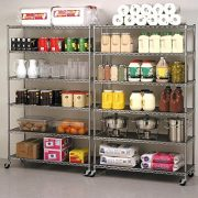 "76""(H) x 48""(L) x 18""(D) Chrome NSF Wire Shelving Unit Commercial Heavy Duty"