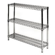 "8"" d x 36"" w Chrome Wire Shelving with"