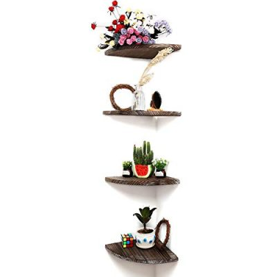 DOCMON Corner Shelf-Floating Shelves-Rustic Vintage Country Wood