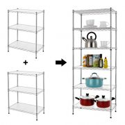 Finnhomy 6-Tier Wire Shelving Unit Adjustable Steel Wire Rack Shelving