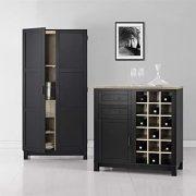 Ameriwood Home Carver Storage Cabinet, Black