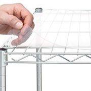 "Aromzen Shelf Liners for 18"" X 48"" Shelf, Clear Plastic"