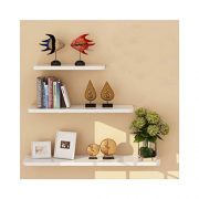 WUDENHOM White Shelf for Wall, Set of 3 Gift Wall Mount Wood