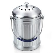 Cook N Home 1 Gallon Stainless Steel Kitchen Compost Bin