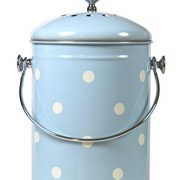 Kitchen Compost Bin Blue White Polka Dots By Mount Delectable