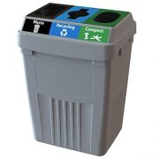 CleanRiver Flex E bin Indoor and Outdoor Sturdy 3-in-1 Waste