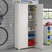 "Callahan 36"" Utility Storage Cabinet, White"