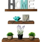 Rustic Farmhouse 3 Tier Floating Wood Shelf - Floating Wall Shelves