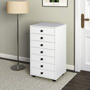 DEVAISE 7 Drawers Chest Storage Dresser Cabinet with Removable Wheels