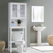 BestComfort Wooden Over The Toilet Cabinet Storage, BathroomOrganizer