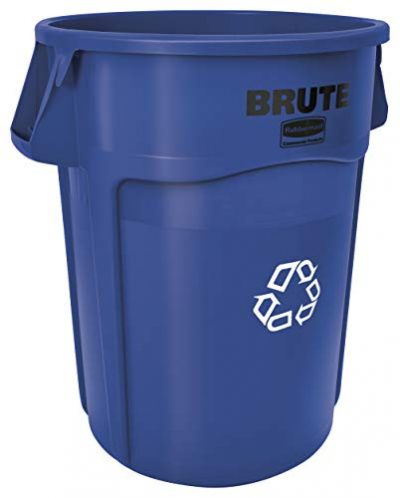 Rubbermaid Commercial Products BRUTE Heavy-Duty Round Recycling