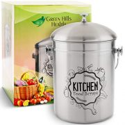 Kitchen Compost Bin Stainless Steel Odorless Countertop Compost Pail