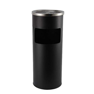 BEAMNOVA Trash Can Outdoor Black Garbage Enclosure Inside