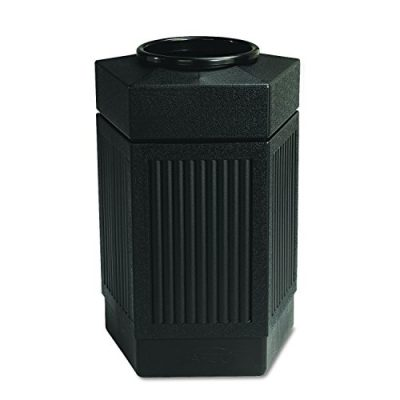 Safco Products Canmeleon Outdoor/Indoor Open Top Pentagon Trash Can