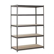 EDSAL Heavy Duty Garage Shelf Steel Metal Storage 5 Level Adjustable Shelves