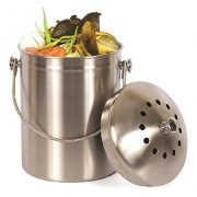Estilo Stainless Steel Compost Pail, 1 Gallon Compost Bin