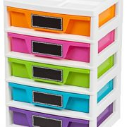 IRIS USA, Inc. 5 Drawer Storage & Organizer Chest, Assorted Colors