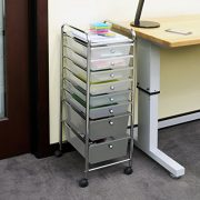 Seville Classics 8-Drawer Storage Bin Organizer Cart