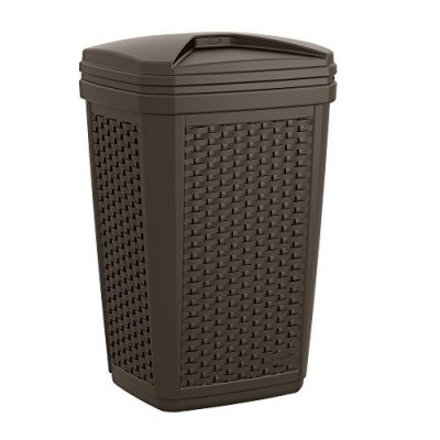 Suncast Trash Hideaway - Outdoor Trash Can for Deck or Patio with Lid