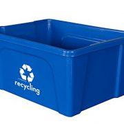 Qty = 4 Low Profile Blue Deskside Recycling Bin is Perfect