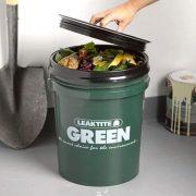 Indoor Big Green Compost Bucket, Bin