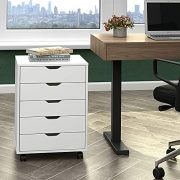 DEVAISE 5-Drawer Dresser Mobile Storage Cabinet for Home Office