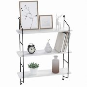 Bathwa 3-Tier Industrial Floating Shelves Wall Mounted Display Wall