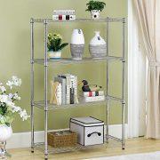 BestOffice 4 Shelf Wire Shelving Unit Garage NSF Wire Shelf Metal Large Storage