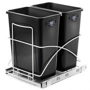 Home Zone Living 29 Liter / 7.6 Gallon Pull-Out Trash Can