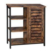 VASAGLE Industrial Storage Cabinet, Bathroom Floor Standing Cabinet